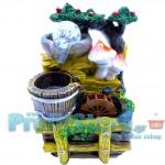 Μινι Διακοσμητικό Συντριβάνι Feng Shui με Τρεχούμενο Νερό και Πολύχρωμο Φωτισμό LED
