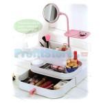 Καθρέφτης - Θήκη - Μπιζιουτιέρα Αποθήκευσης Καλλυντικών - Cosmetic Organizer & Mirror