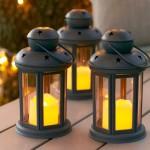 Διακοσμητικό Vintage Φαναράκι με LED Κερί Εσωτερικού και Εξωτερικού χώρου - LED Candle Lantern Set