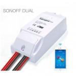 Διπλός Ασύρματος Διακόπτης Sonoff Dual 2-Channel Wifi Για Κινητά IOS/Android 16A