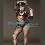 Ολόσωμο Μακρυμάνικο Καλσόν Sexy Αστυνομικίνα με Ζώνη, Καπέλο, Μπουστάκι, Γραβάτα με Γιακά και Χειροπέδες - Μεγάλα Μεγέθη