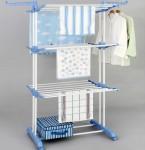 Αναδιπλούμενη Κρεμάστρα - Ραφιέρα με Ροδάκια - Three Layers of Clothes Hanger