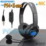 Ακουστικά On Ear Gaming με Ρυθμιζόμενο Μικρόφωνο PS4, X ONE & PC Headset - Headphones w/ Mic for Playstation 4, Xbox X-one