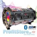 Ασύρματο Ηχοσύστημα Bluetooth με LED Φωτισμό USB/SD/AUX/FM Radio & Mic Karaoke - Ηχείο Multimedia Player