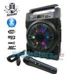 Φορητό Αυτοενισχυόμενο Ηχείο - Ηχοσύστημα LED Bluetooth USB/SD/FM/AUX Karaoke Mp3 Player με Μικρόφωνο - Multimedia Speaker NS-T10MIC