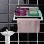 Αυτοκόλλητη Βάση για Σαπούνι και Πετσετάκι Μπάνιου - Soap & Towel Hanger