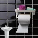 Αυτοκόλλητη Βάση Τουαλέτας για Χαρτί Υγείας - Tissue Box & Toilet Paper Hanger