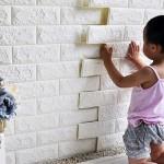 Τρισδιάστατα Αυτοκόλλητα Τοίχου - Ανάγλυφη Ταπετσαρία Τούβλο 75cm x 70cm σε Πολλά Χρώματα - 3D Foam Wall Sticker