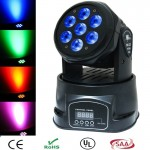 Φωτορυθμικό Smart Rainbow DP-518 Mini Wash 7x10W Moving Head Led RGBW 4-IN-1