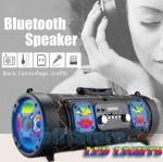Ασύρματο Ηχοσύστημα Bluetooth με LED Φωτισμό USB/SD/AUX/FM Radio & 2 Mic Karaoke - Ηχείο Wireless Multimedia Player