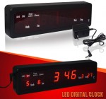 Μεγάλο Ψηφιακό Ρολόι Ξυπνητήρι - Ημερολόγιο - Θερμόμετρο - Led Digital Clock Alarm