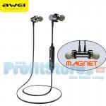 Αδιάβροχα Μαγνητικά Ασύρματα Ακουστικά Handfree Bluetooth με Dual Drive, Μικρόφωνο CVC Ηχομόνωση - Σχεδιασμένο για Άθληση, Τρέξιμο κα AWEI Newest