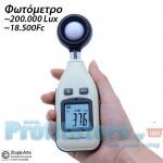 Μίνι Ψηφιακός Μετρητής Backlight Έντασης Φωτός / Φωτισμού 0 - 200000Lux & Fc Υψηλής Ακριβείας - Φωτόμετρο / Λουξόμετρο με Οθόνη LCD