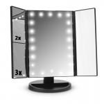 Τριπλός Καθρέφτης με Φωτισμό & Μεγέθυνση 2x & 3x - Μακιγιάζ Makeup Mirror με Φωτισμό 22 LED