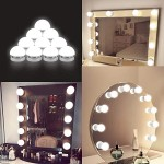 Εντυπωσιακός Led Αυτοκόλλητος Φωτισμός Τύπου Hollywood Για Καθρέπτη Μακιγιάζ Τουαλέτας με Ρυθμιζόμενο Φωτισμό