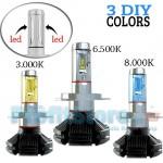 Φώτα Αυτοκινήτου LED COB 360ᵒ Η4 14400LM (2x7200) & 60W (2x30) με Φιλμ Χρώματος 3000K, 6500K, 8000K CAN BUS