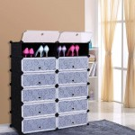 Συναρμολογούμενη Πλαστική Παπουτσοθήκη 12 Χώρων - Storage Cabinet