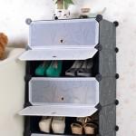 Συναρμολογούμενη Πλαστική Παπουτσοθήκη 4 Χώρων - Combination Cabinet