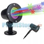Νυχτερινός Αδιάβροχος Διακοσμητικός Χριστουγεννιάτικος Φωτισμός - Προβολέας laser - Προτζέκτορας με Πολύχρωμες Νιφάδες 10232