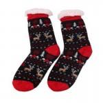 Ζεστές Χριστουγεννιάτικες Καλτσοπαντόφλες Γυναικείες με Γούνινη Επένδυση Ελάφι - Christmas Cozy Socks
