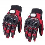 Γάντια Αναβάτη Μηχανής / Μοτοσυκλέτας με Προστασία στις Αρθρώσεις - Σετ 2 Τεμαχίων Κόκκινα