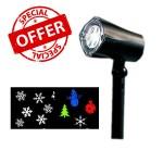 Νυχτερινός Διακοσμητικός Χριστουγεννιάτικος Γιορτινός Φωτισμός  - LED Pattern Projector 2253