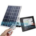 Αδιάβροχος Ηλιακός Προβολέας 15W με Φωτοβολταϊκό Πάνελ, Τηλεκοντρόλ & Χρονοδιακόπτη - Solar Panel