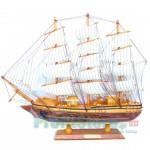 Χριστουγεννιάτικο Ξύλινο Καράβι Μεγάλο Gotheborg II - Χειροποίητο Διακοσμητικό Ιστιοφόρο 48 x 42 x 7,5cm