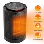 Φορητό Αερόθερμο - Κεραμική Σόμπα με Περιστροφή 70°, Θερμοστάτη, 2 Ταχύτητες, Οθόνη & Διακοπή Λειτουργίας σε Πτώση 1200W - Electric Heater
