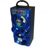 Ηχοσύστημα Bluetooth με LED Φωτισμό 12W USB/SD/AUX/FM & Οθόνη LED Multimedia Player MS-259ΒΤ