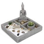Κήπος του Ζεν με Βούδα Thai για Χαλάρωση, Διαλογισμό και Ευεξία 20x20x14