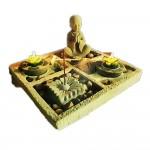 Κήπος του Ζεν με Βούδα Thai για Χαλάρωση, Διαλογισμό και Ευεξία 24x24x12