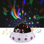 Παιδικό Φωτιστικό σε Σχήμα Διαστημόπλοιο με Περιστροφή - Dream Rotating Projection Lamp
