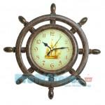 Ρολόι Τοίχου Quartz σε σχήμα Ναυτικό Τιμόνι