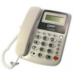 Επιτραπέζιο Τηλέφωνο 2 γραμμών με Αναγνώριση Κλήσης, Μεγάλη Οθόνη & Μεγάλα Πλήκτρα Cask KX-T025LMID