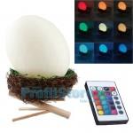 Ανάγλυφο Φωτιστικό RGB LED Αυγό σε Φωλιά Πουλιού - Zen Egg Light Πολύχρωμο Τηλεχειριζόμενο Επαναφορτιζόμενο USB με 16 Αποχρώσεις & 4 Προγράμματα