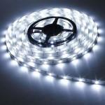 Σετ Αδιάβροχη Ταινία LED 5 μέτρων White 60SMD 3,6W SuperBright 12V με τροφοδοτικό