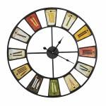 Ρολόι Τοίχου 60cm σε Χρώμα Μεταλλικό Black.