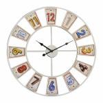 Ρολόι Τοίχου 60cm σε Χρώμα Μεταλλικό White.