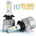 Λαμπτήρες LED 20000LM Αυτοκινήτου H7 (2 x 10000Lm) 110W (2 x 55w) 6500k - Λάμπες Φώτα Πορείας
