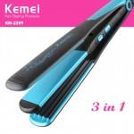 Ισιωτική - Μπουκλιέρα Μαλλιών 2 σε 1 - Kemei Curly & Straight Hair 2 in 1