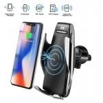 Έξυπνος Ασύρματος Φορτιστής με Αυτόματο Κλιπ & Βάση Στήριξης Τηλεφώνου - Smart Sensor Car Wireless Charger