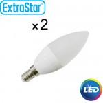 Λαμπτήρας LED ExtraStar 5W E14 με Ψυχρό Φως Σετ 2 Τεμαχίων