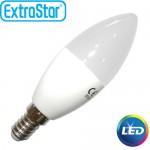 Λαμπτήρας LED ExtraStar 6W C37 E14 με Ψυχρό Φως