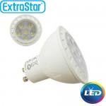 Λαμπτήρας LED ExtraStar 5,5W GU10 με Θερμό Φως