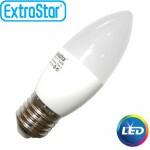 Λαμπτήρας LED ExtraStar C37 6,3W E27 με Θερμό Φως