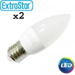 Λαμπτήρας LED ExtraStar 4W E27 με Θερμό Φως Σετ 2 Τεμαχίων