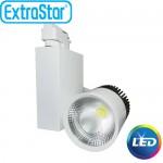 Προβολέας LED Ράγας ExtraStar 20W με Ψυχρό Φως