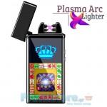Αντιανεμικός X Arc Αναπτήρας Διπλής Ακτίνας με Παιχνίδι Casino Slot Machine - Double Plasma Arc Game Laser Lighter USB