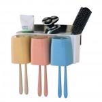 Αυτοκολλητη Θήκη Μπάνιου με 3 Θέσεις για Οδοντόβουρτσες - Toothbrush Combination Holder